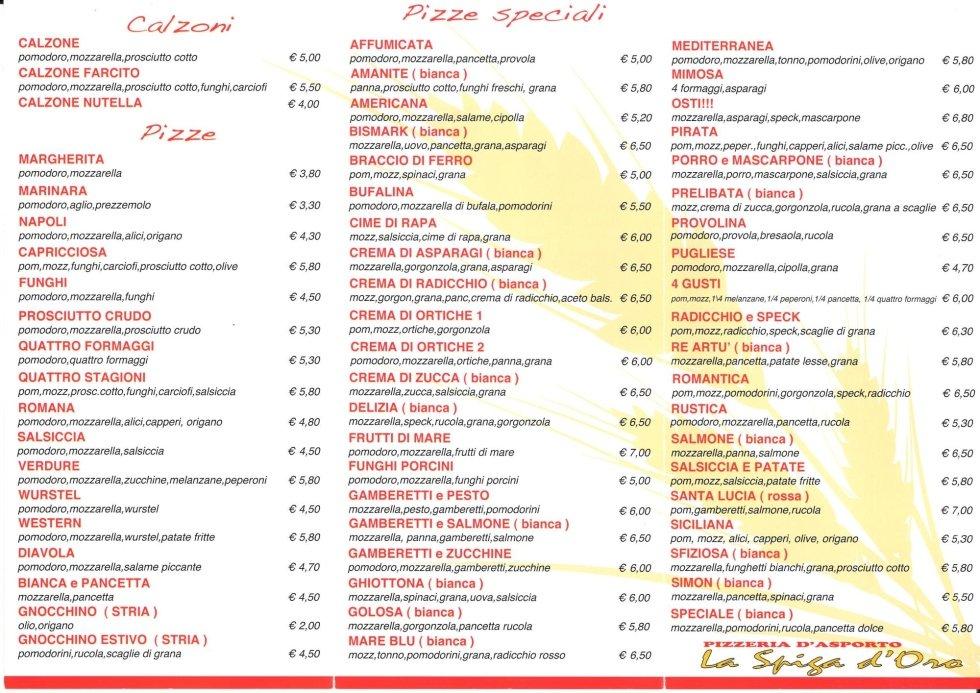 menu asporto modena