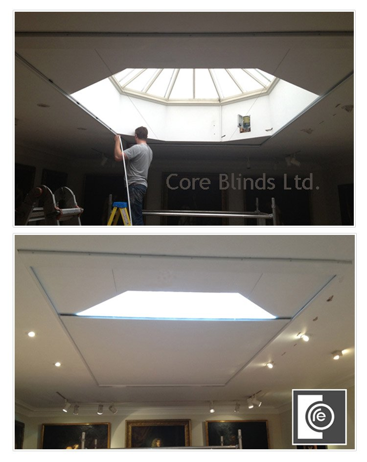 Skylight blind fitting