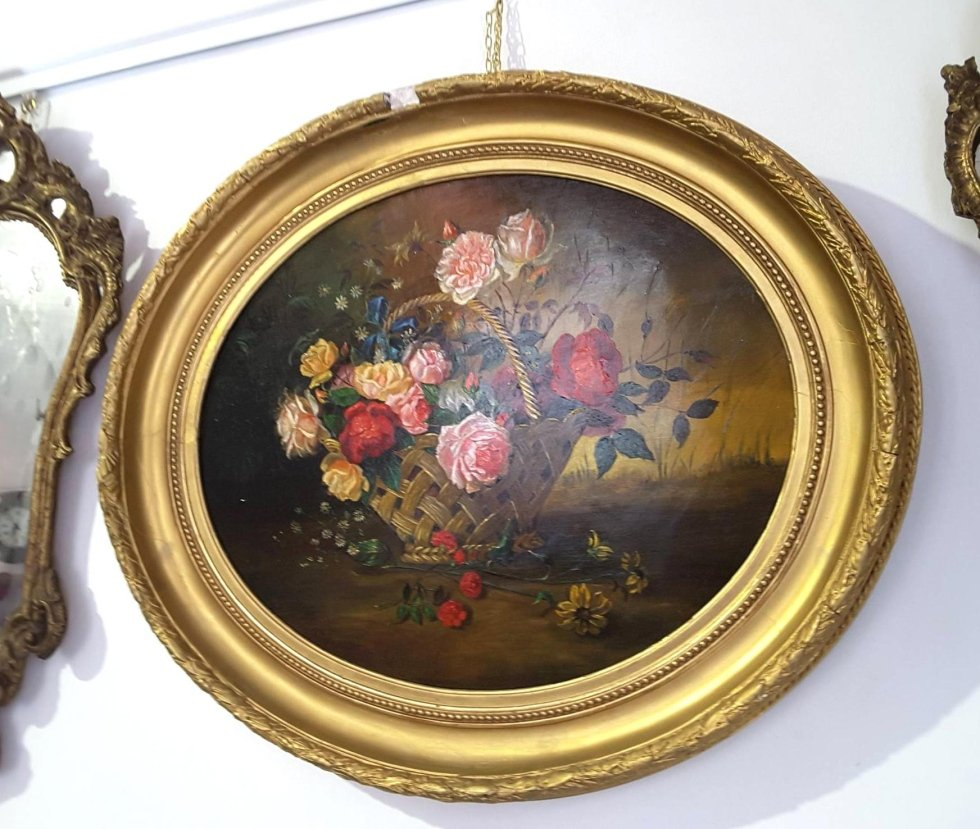 Cestino di fiori periodo Liberty