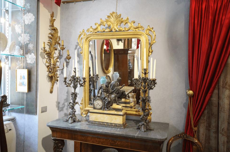 Specchiera dorata Luigi Filippo