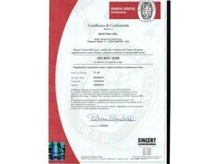 Certificato di conformità ISO 9001