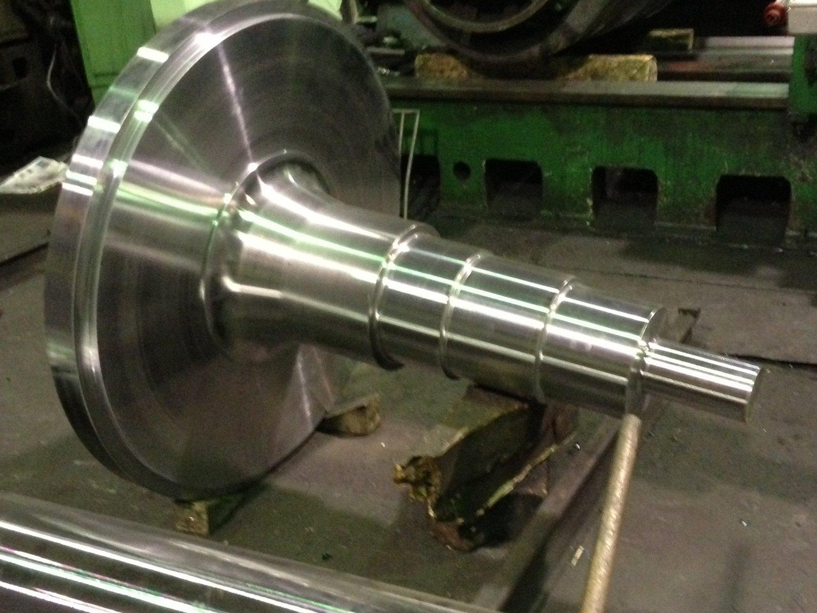 elemento metallico dopo tornitura