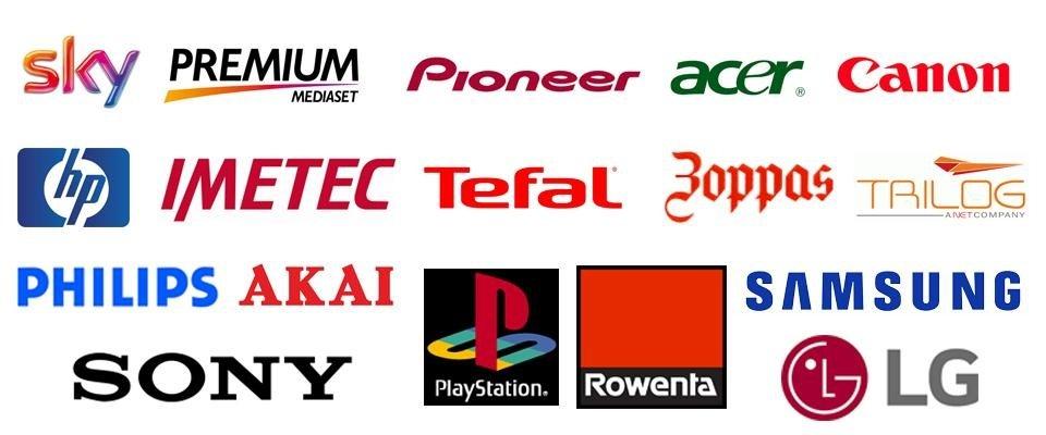 loghi principali marche di elettronica e tv