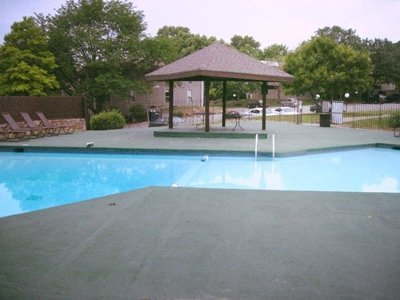 The Regency Place pool at Meadowbrook Apartments in Lawrence, Kansas
