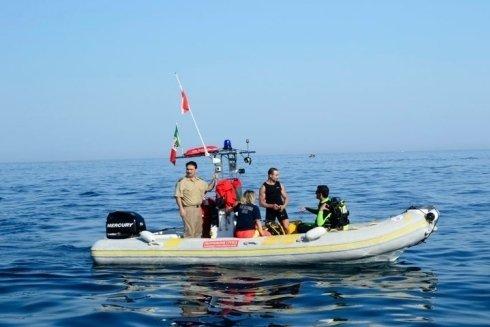 gommone per recupero in mare
