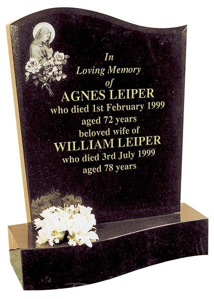 agnes & william leiper stone with  descending base