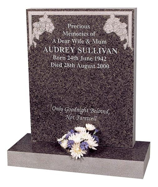 audrey sullivan pal granite square memorial headstone