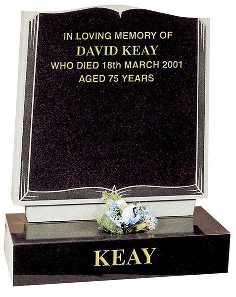 headstone with engraved plinth