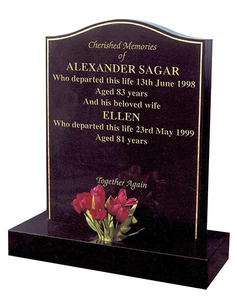 alexander sagar dark brown granite memorial