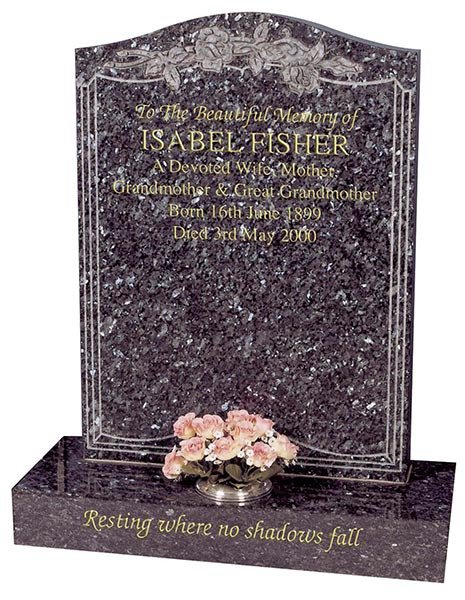 isabel fisher sparkling headstone
