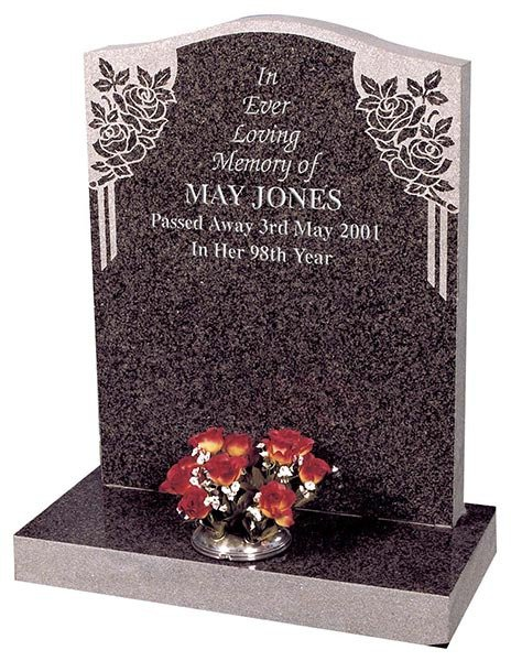 may jones headstone with etched side drapes