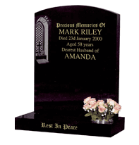 Headstone with image plate