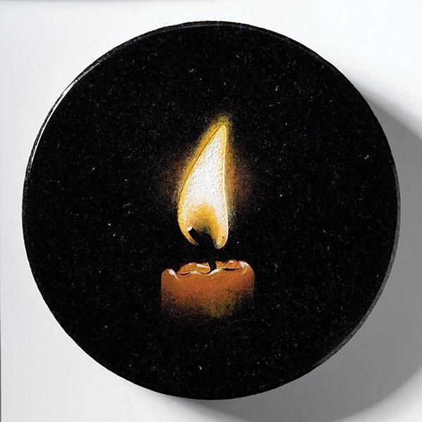 a candle memorial