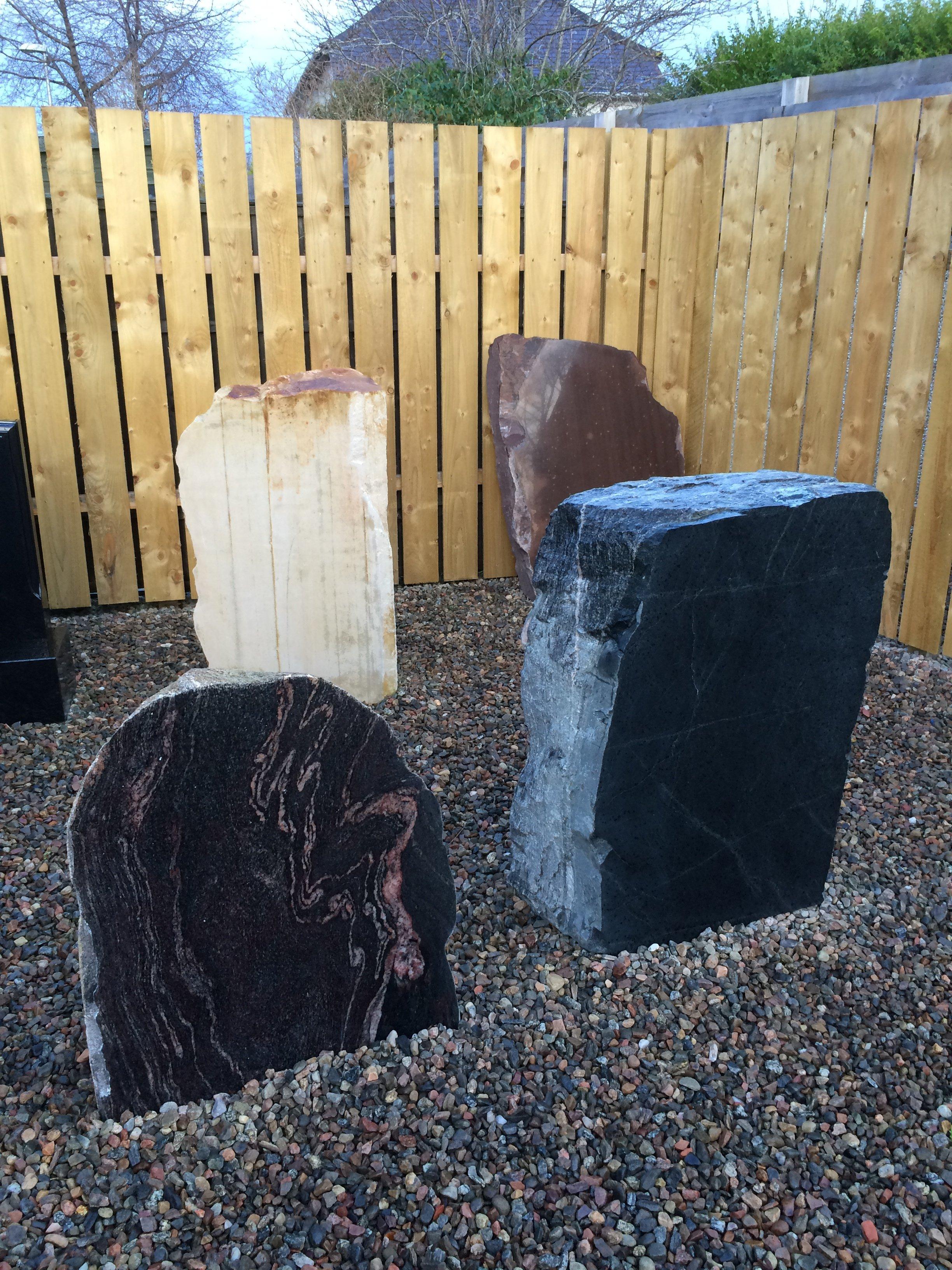 raw granite before carving