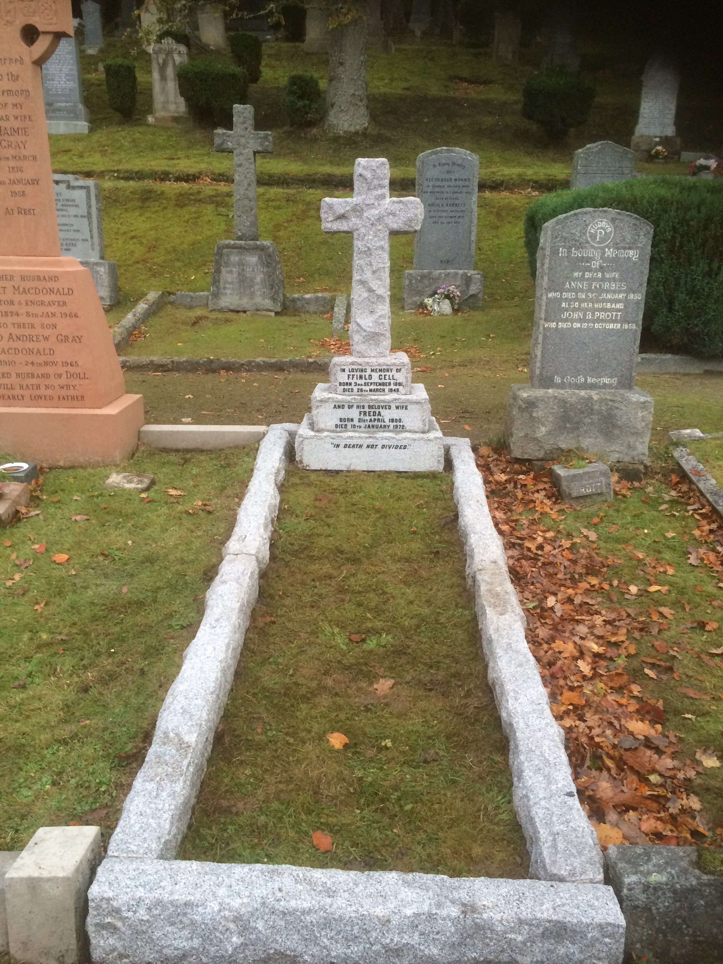 grave and headstone after refurbishment