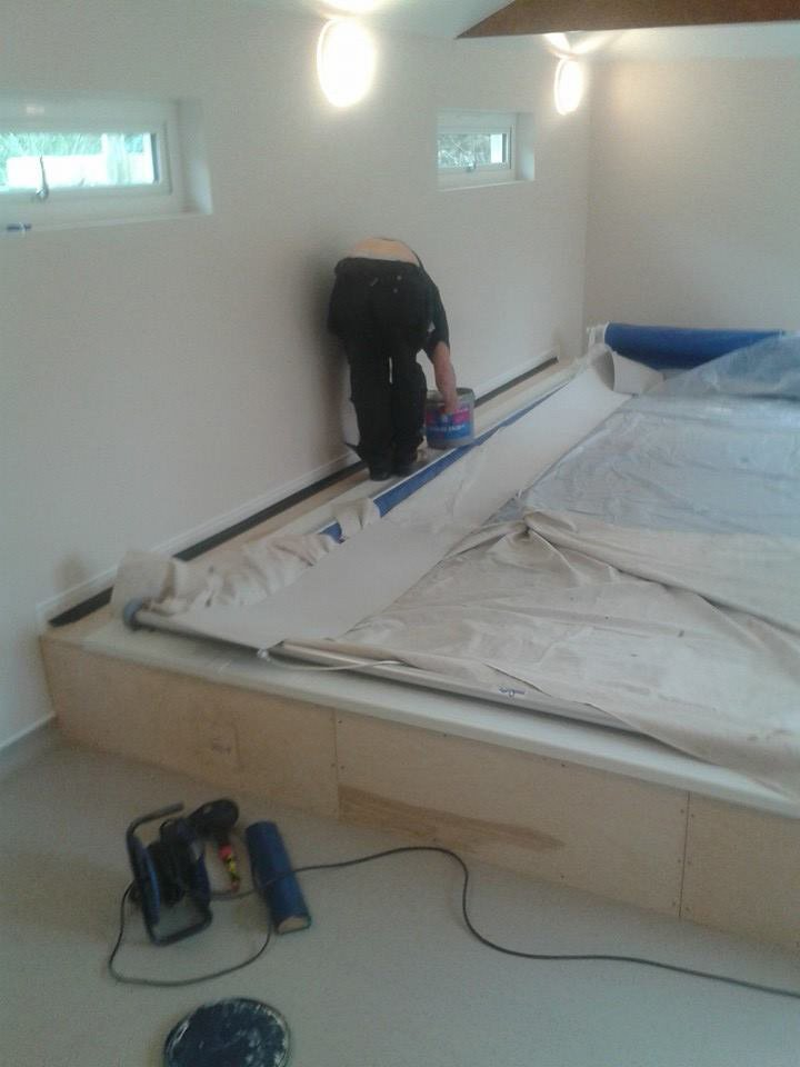 flooring being installed