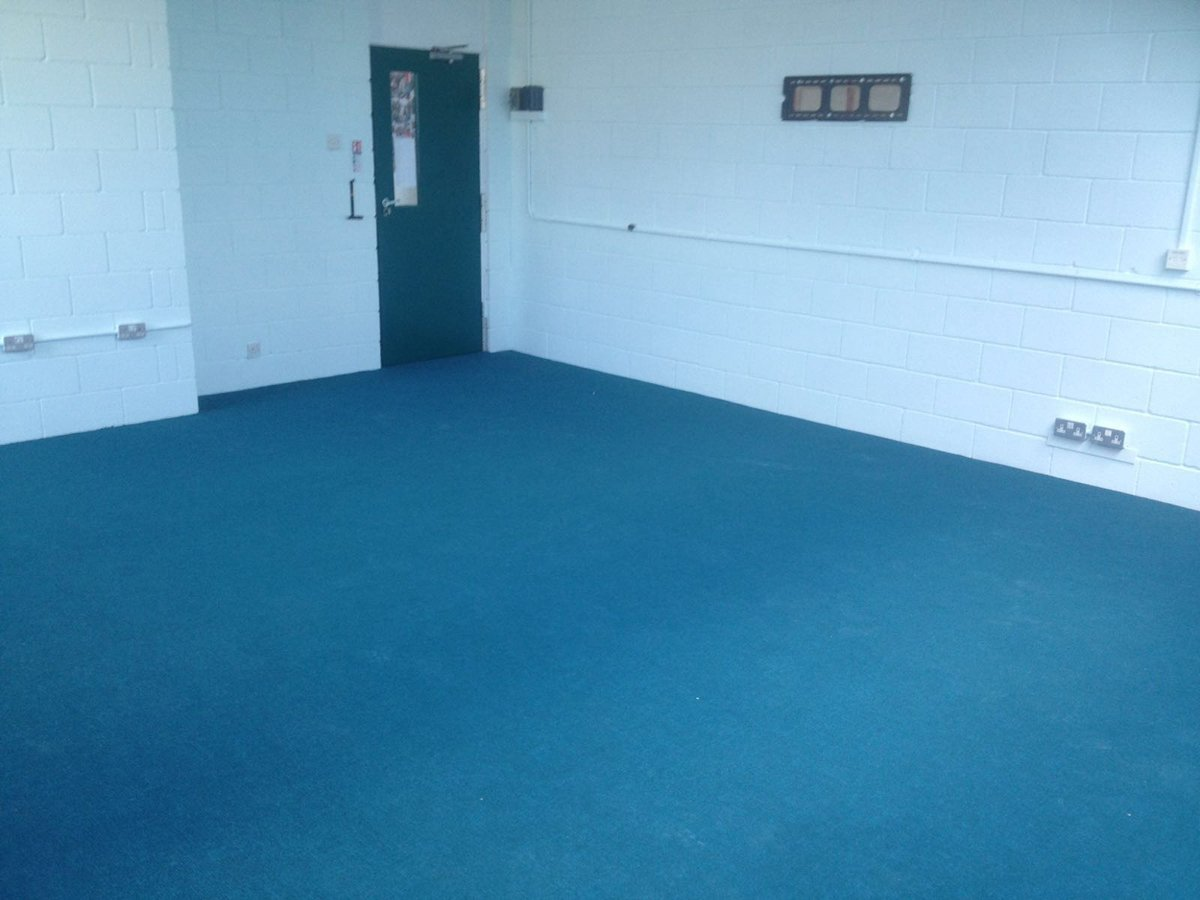 blue carpet flooring