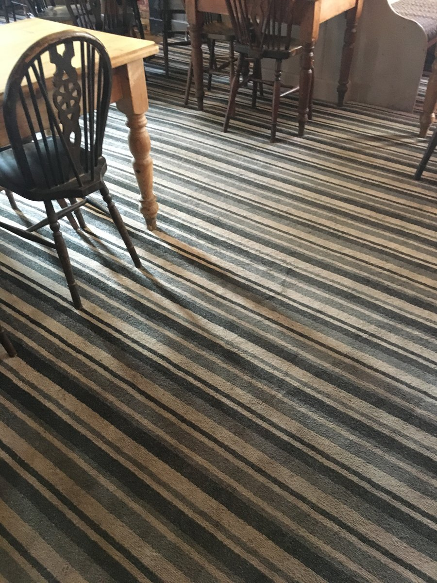 striped carpet in restaurant