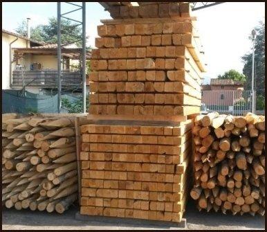 vendita pali legno