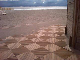 pedana legno mare