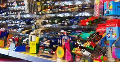 a wide range of stationery items