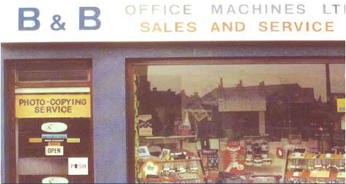 B & B shop