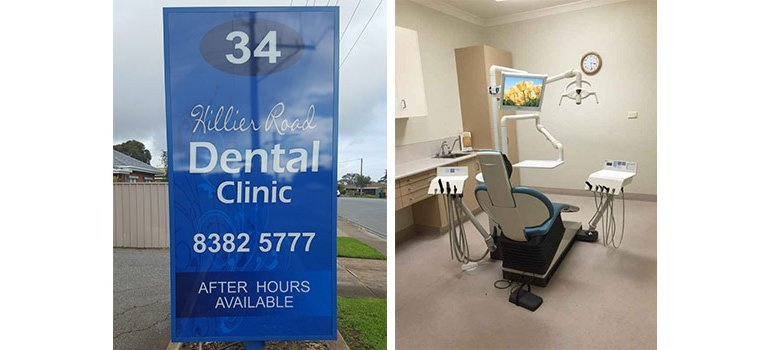 hilier road dental clinic signage