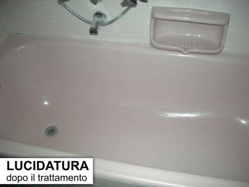 Lucidatura vasca da bagno