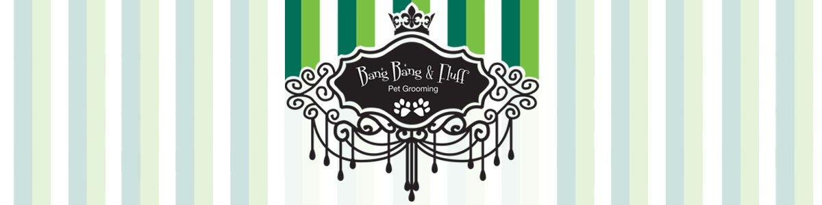 bang bang fluff pet grooming business logo