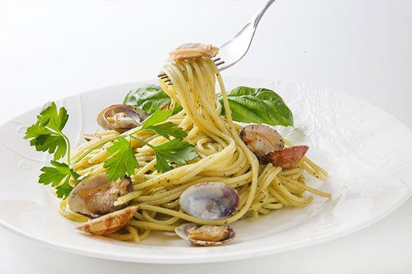 Spaghetti alle vongole a Bianco