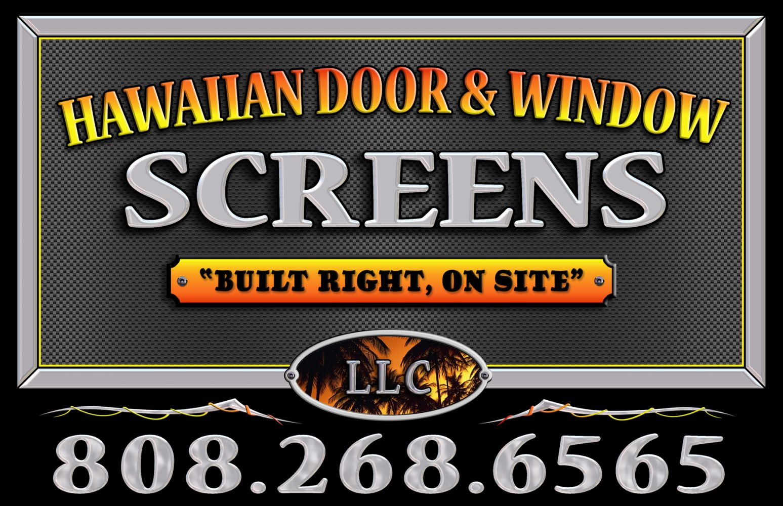 House with screen door installation in Makawao, HI