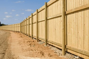 A new timber fence