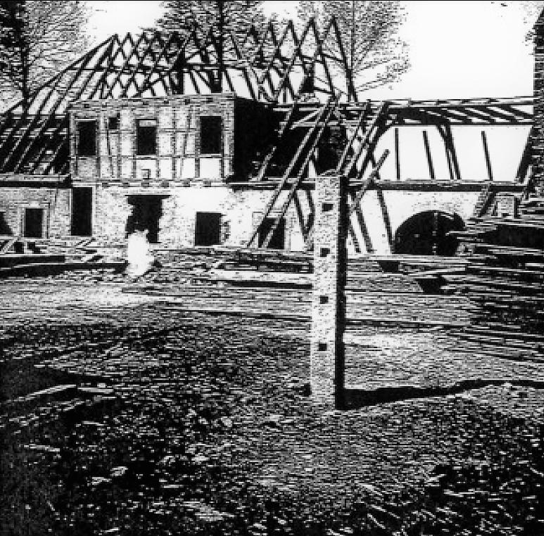 Rittergut Adlershof zu Oberlauterbach - Abriss der Försterei anstelle des Herrenhauses © unbekannt