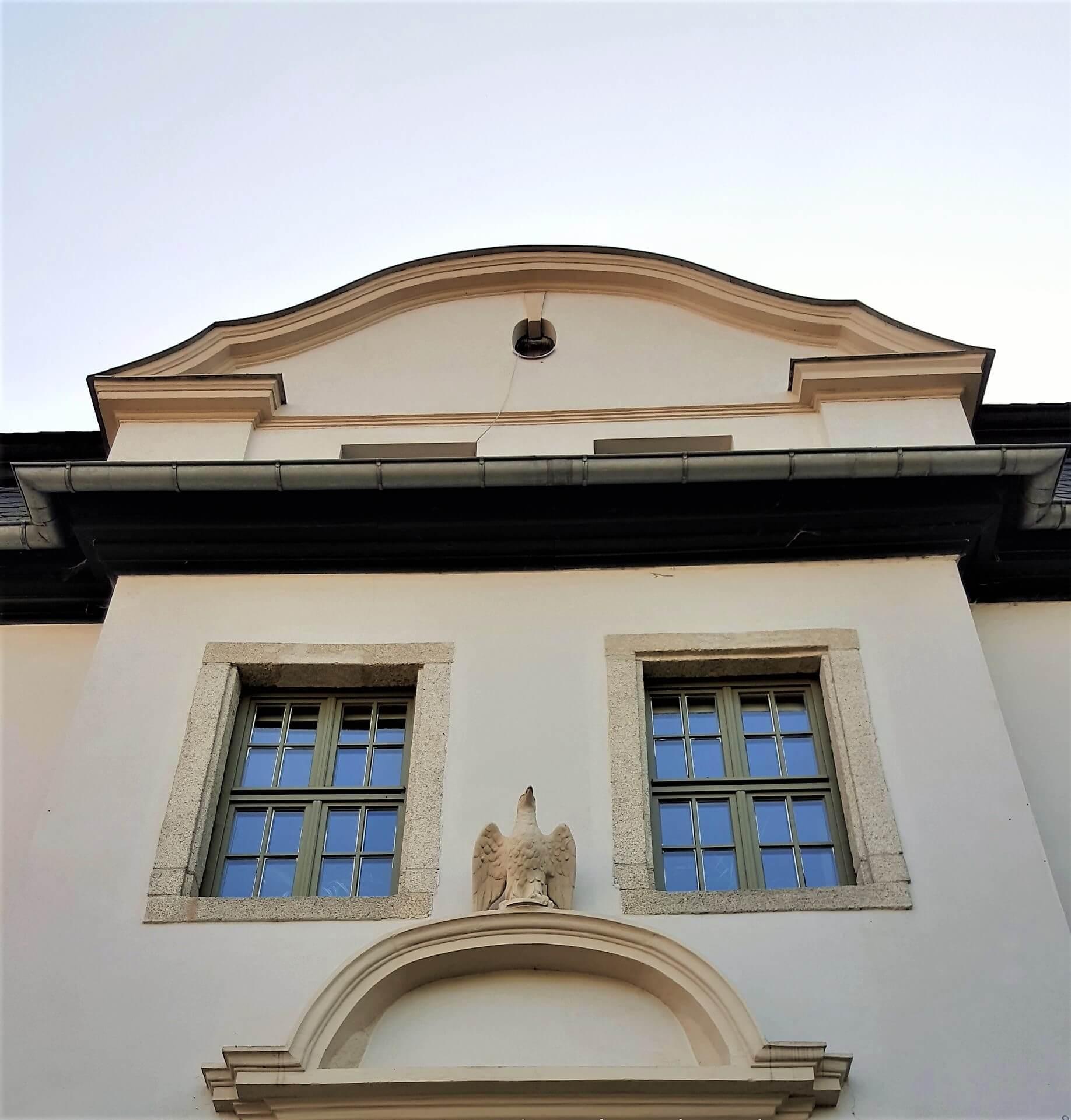 Rittergut Adlershof zu Oberlauterbach - Adler Eingang Herrenhaus © Jens Reiher