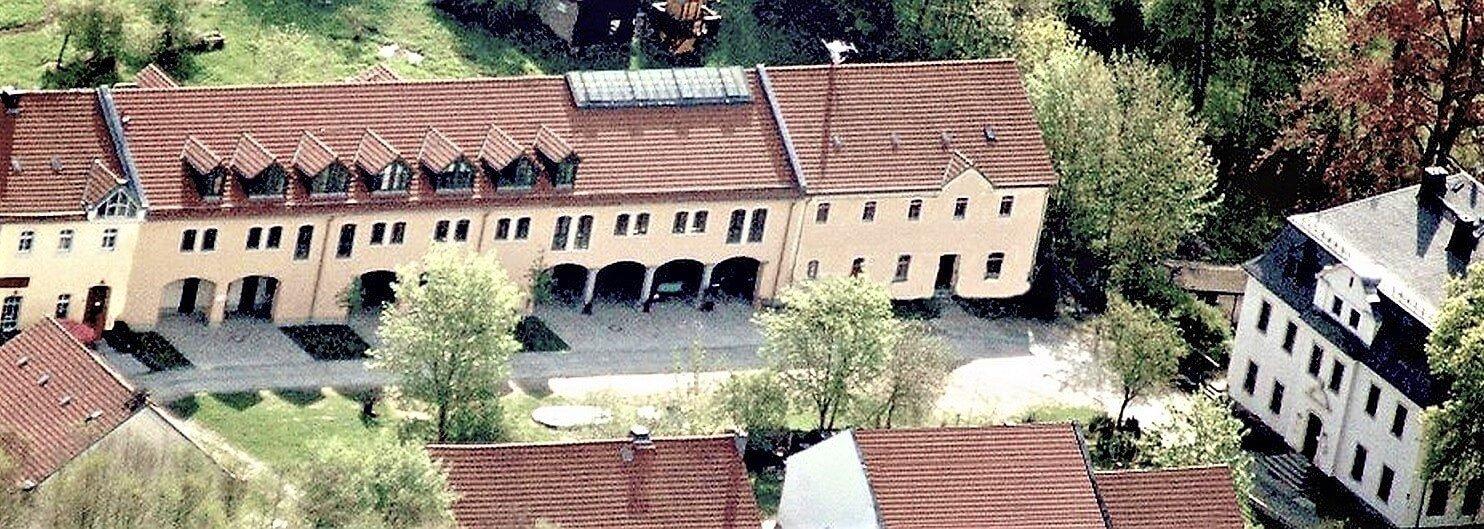 Rittergut Adlershof zu Oberlauterbach - Luftbild Gutshof 2010 © Jens Reiher