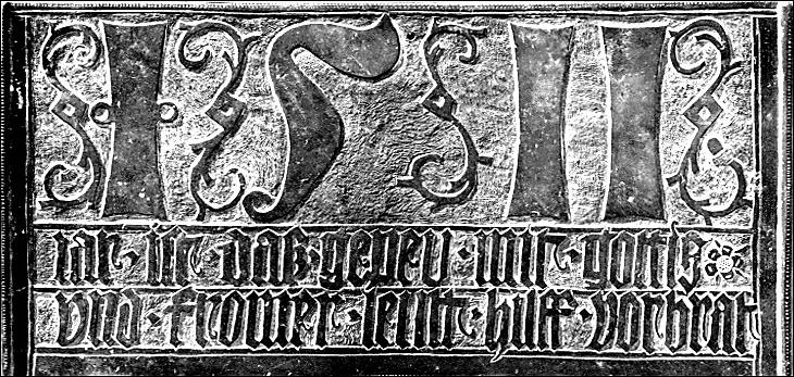 Rittergut Adlershof zu Oberlauterbach - originale Bronzetafel mit Gründungshinweis © unbekannt