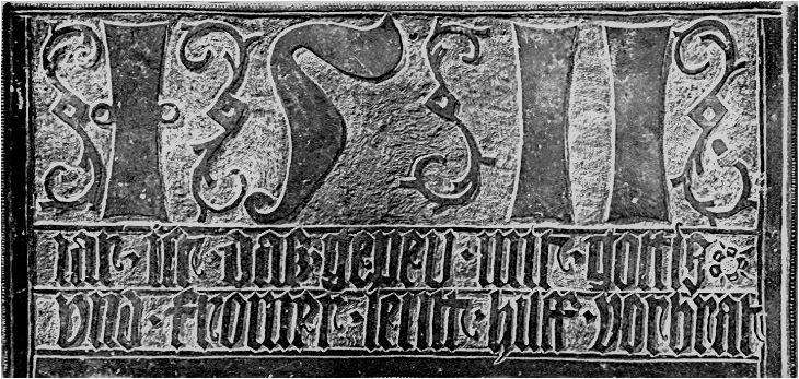 Abb. 1 Bronzetafel von 1511 gefunden nach Umbau und Modernisierung des Herrenhauses © Gotthard Schneider