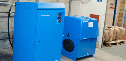 Air compressors installed at local business