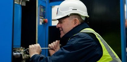 BCAS engineer at work