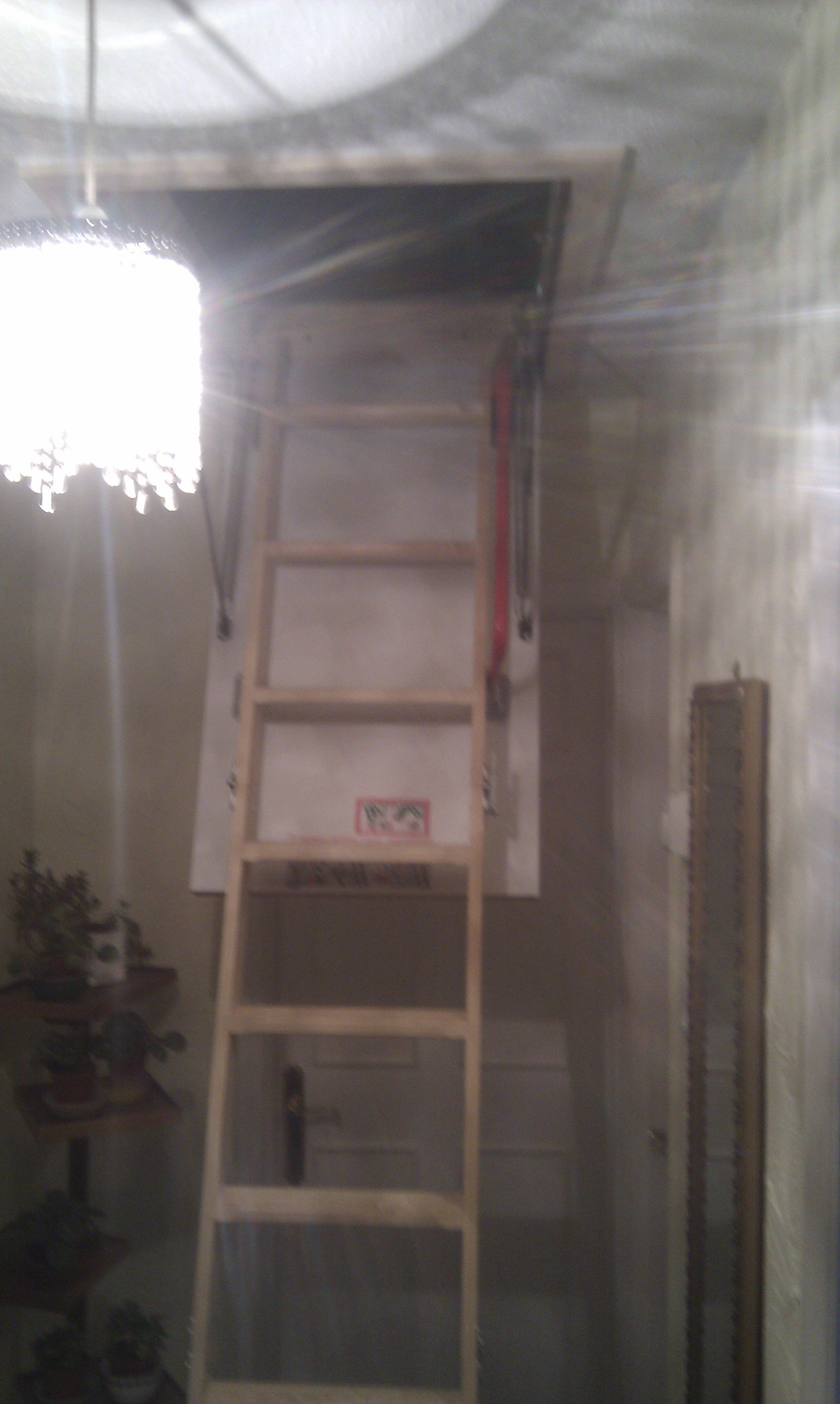 ladder placed at construction site