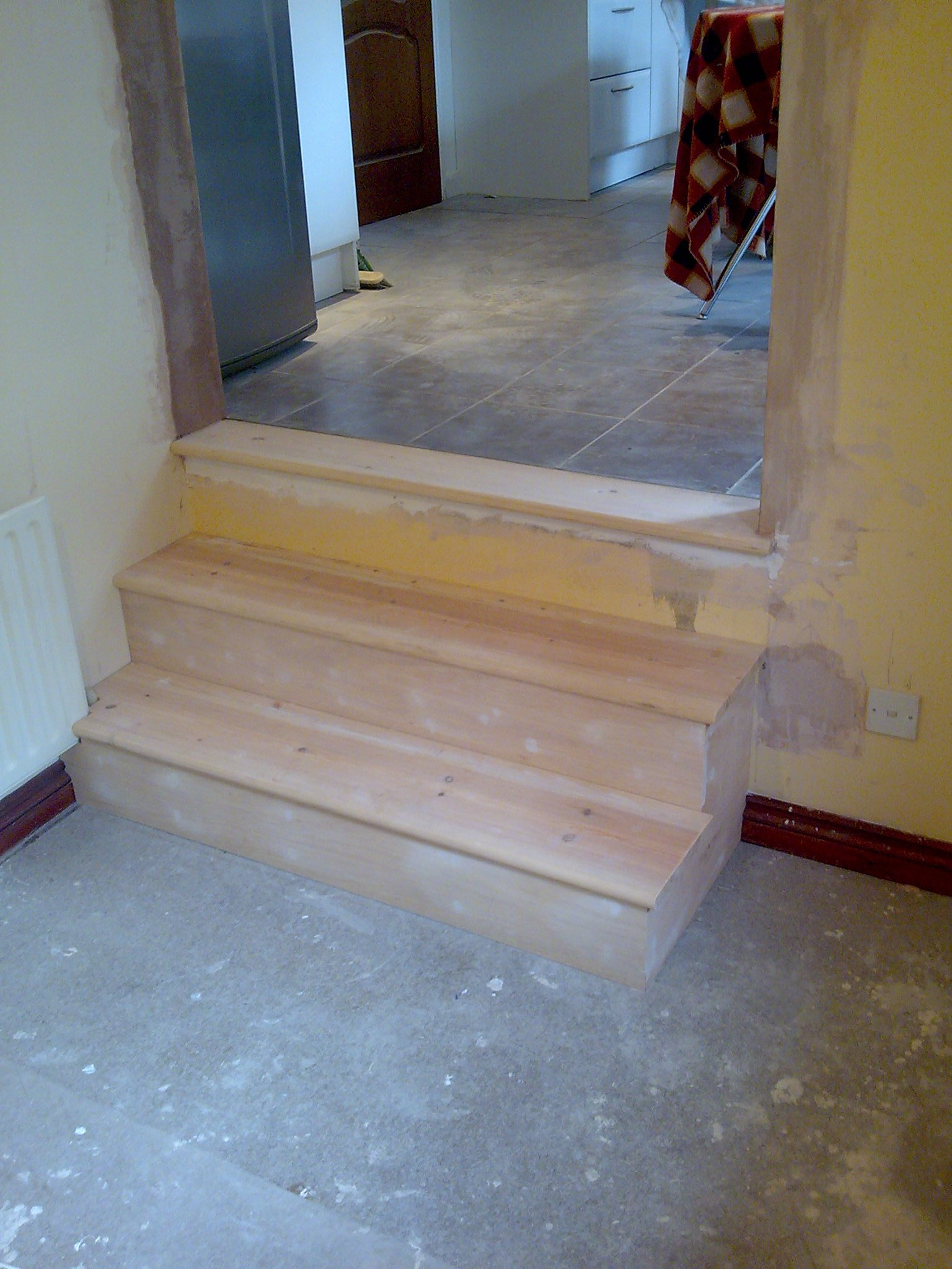 steps constructed