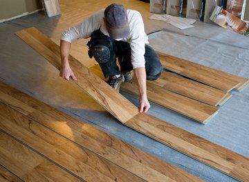 Laminate flooring - Camborne, Cornwall - Jared's General Maintenance - laminating the floor.