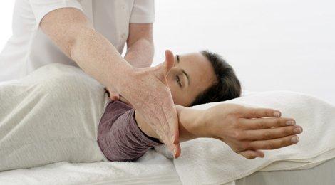 a lady undergoing a treatment