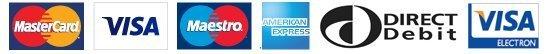 MASTERCARD VISA AMEX logos