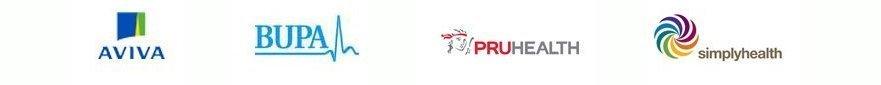 AVIVA BUPA PRUHEALTH logos