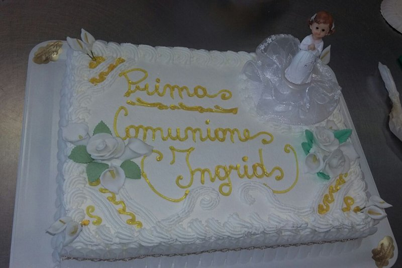 torta per prima comunione Ingrid