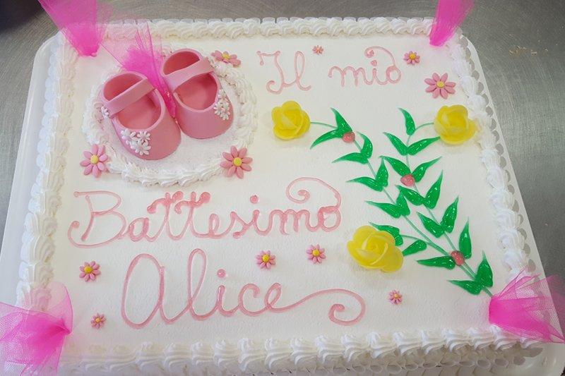 torta per il battesimo di Alice