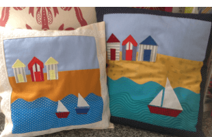 Two craft cushions