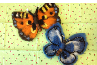 Hand crafted butterflies
