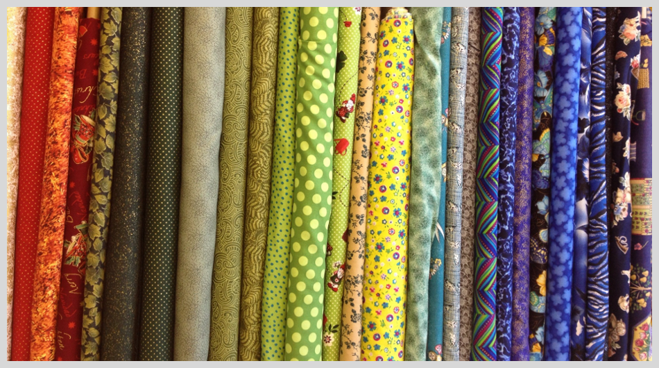 A range of brightly coloured fabrics